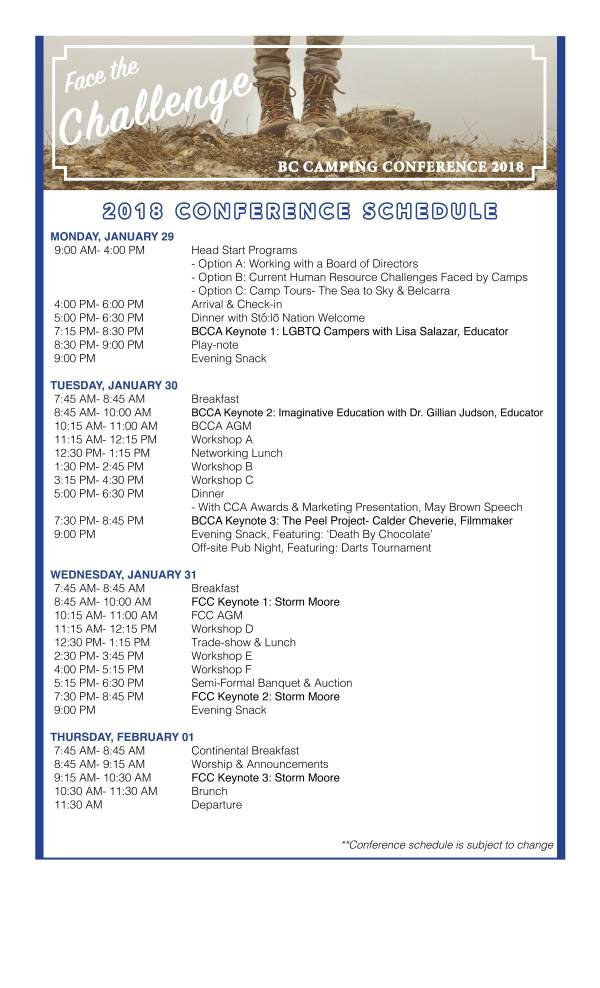 BCCA- 2018 Conference Schedule2
